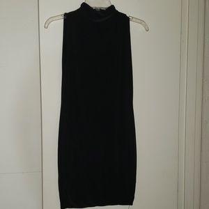 Pretty Little Thing black mock neck mini dress